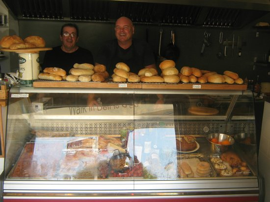 The Fresh Deli and Bakery : Richard, the owner on right side and Graham on left