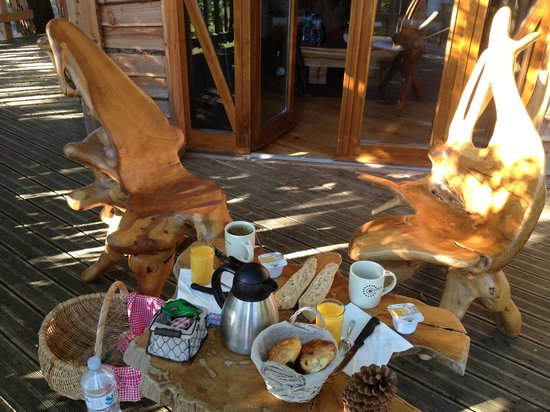Cabanes Perchées dans les Arbres : Petit déjeuner
