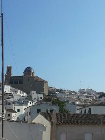 Hotel Abaco Altea: View to the left from our little balcony.