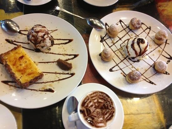 va bene pasta deli: lemon tart and profiteroles
