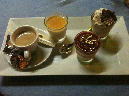 Restaurant Flots Bleus : café gourmand