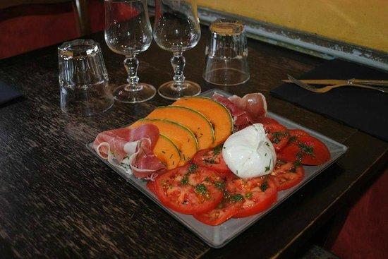 L'AFFICHE : L'Italienne, Buratta, tomates, melon, jambon
