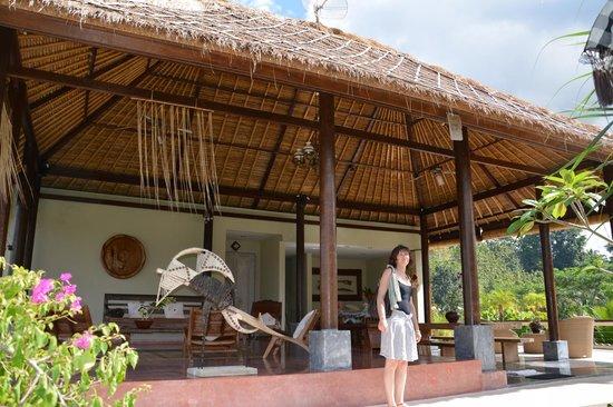 Surya Shanti Villa: chambre vue mont agung