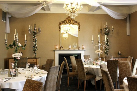 The City Rooms: Dining Room set-up for a wedding