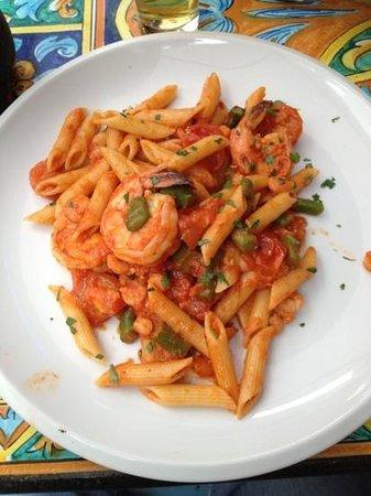 Saturnino: penne gamberi e asparagi...very good