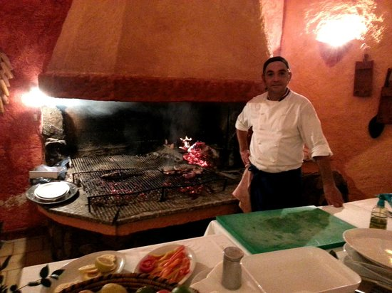 Ristorante Sottomonte: La griglia e la brace di Sottomonte, con lo chef