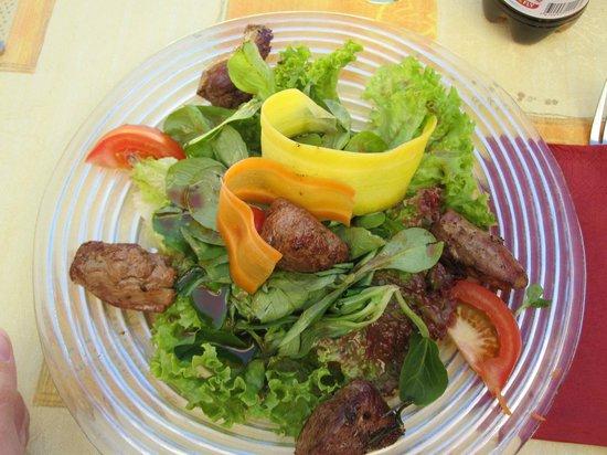 Berghaus Gruensee: Salade d'agneau