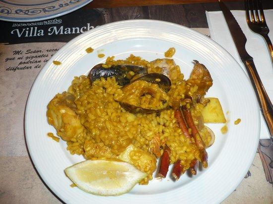 Villa Manchega: paella di pesce