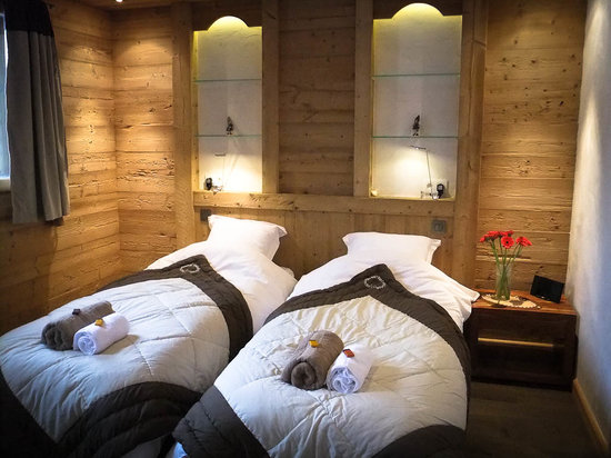 Chalet Virolet: Typical ensuite bedroom