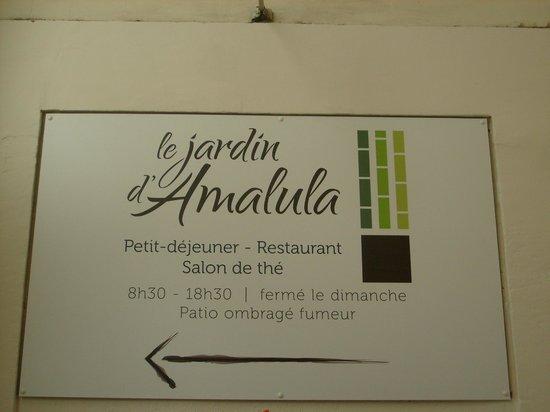 l\'enseigne de la ruelle. - Picture of Le Jardin d\'Amalula, Aix-en ...