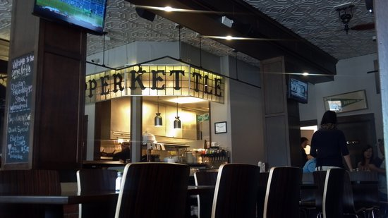 Copper Kettle: Nice kitchen, but with bar and 60 folks can get a bit noisey.  Good food though.
