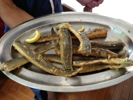 Da Maria: piatto di anguille fritte