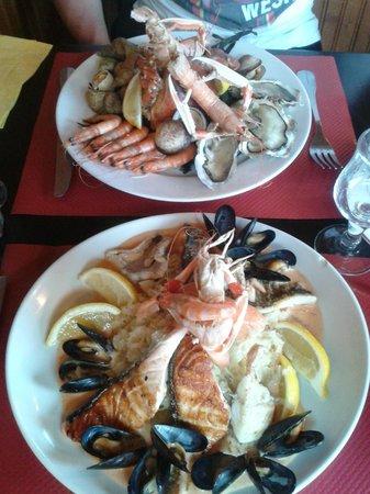 Le Maritime: Assiette du pêcheur et choucoute de la mer