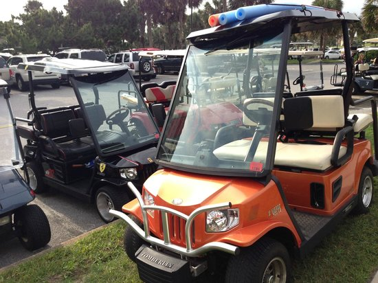 Sandestin Golf and Beach Resort: Tricked out golf cart