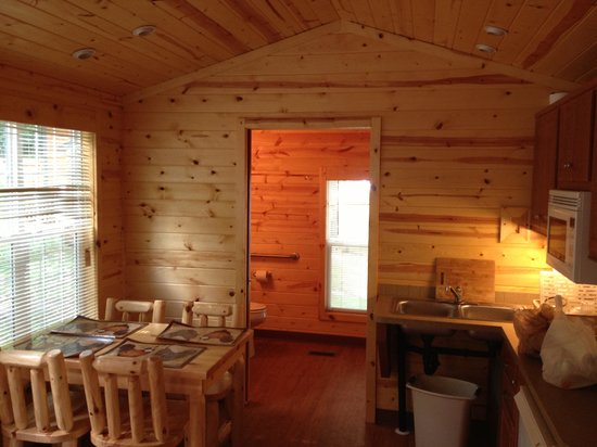 Quechee / Pine Valley KOA: Inside view of cabin