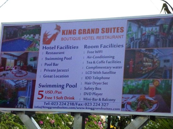 King Grand Suites Boutique Hotel II : samenvatting van diensten