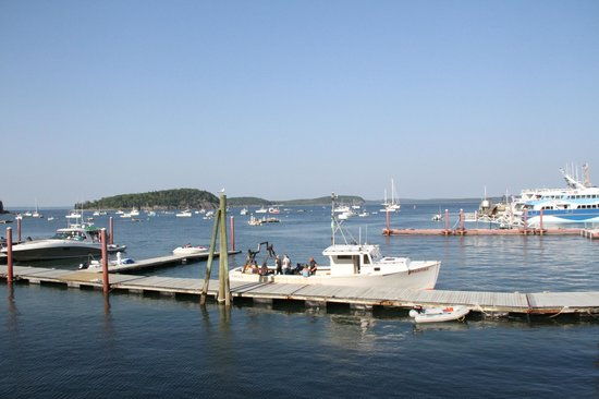 Harborside Hotel & Marina: View of the marina from our porch