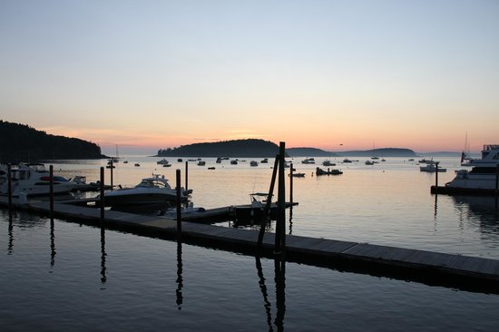 Harborside Hotel & Marina : Mornings are peaceful in Bar Harbor