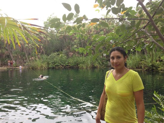 Cenote Crystal: At the Cenote