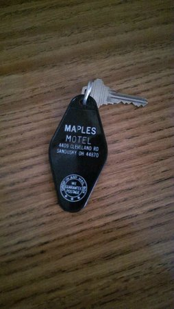 Maples Motel: room keys are real keys!