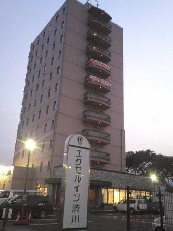 Excel Inn Shibukawa: 渋川駅方面から撮影