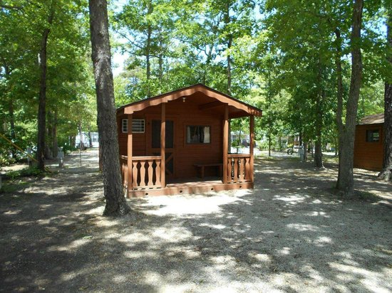 Rustic cabin rentals picture of big timber lake family for Camp sites with cabins