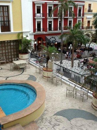 Gran Hotel Diligencias: Vista pintoresca desde el balcon de mi habitación.
