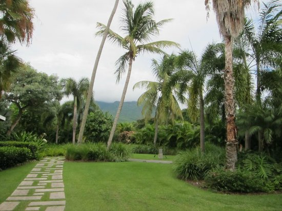 Four Seasons Resort Nevis, West Indies: The footpath to the pool