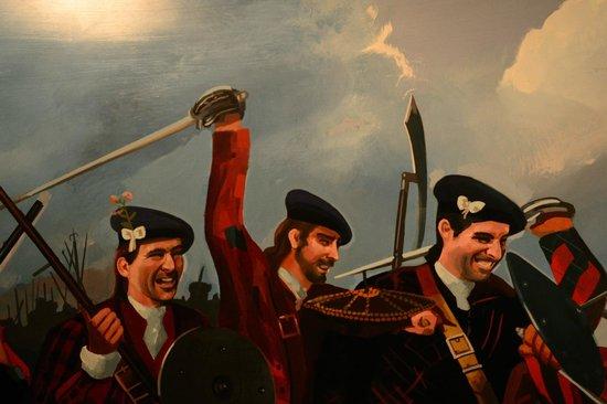 Lancaster City Museum: A depiction of battle