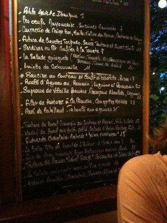 La Guinguette de Neuilly: Carte