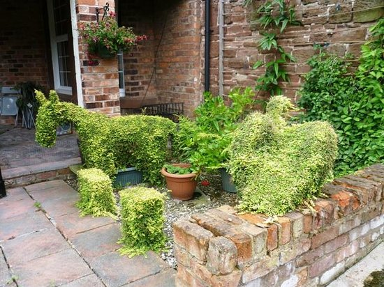 Homeleigh Guest House: Topiary animals
