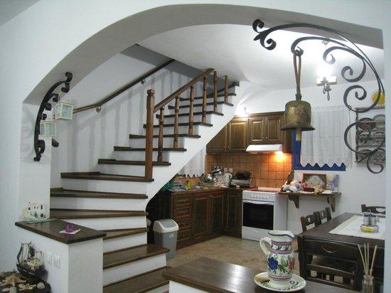 Lipsi, Grèce : Cucina e scala