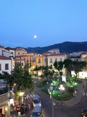 La Piazzetta: view from our window in the evening