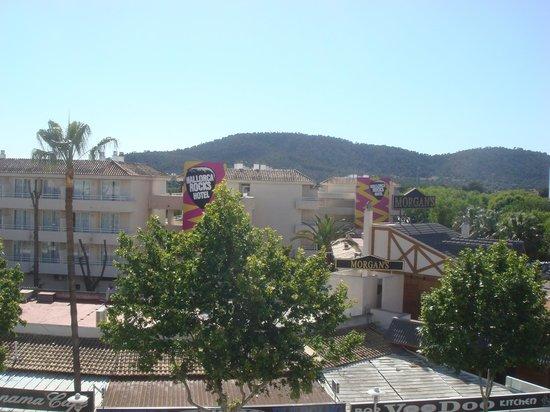 Apartamentos Magalluf Playa: Utsikt från köksfönster