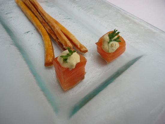 Hotel de France restaurant : salmon