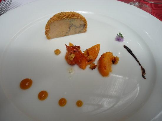 Hotel de France restaurant : fois gras, aprocots