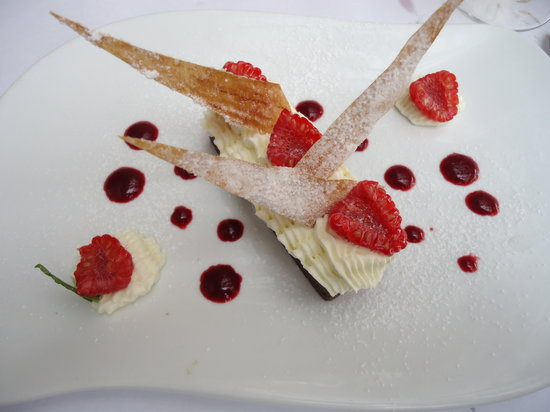 Hotel de France restaurant : Chocolat, raspberries