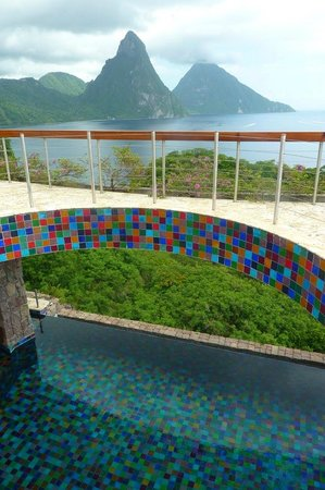 Jade Mountain Club: view fromthe top deck