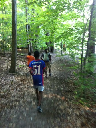 Pohick Bay Regional Park Campgrounds : Nature walk to bay