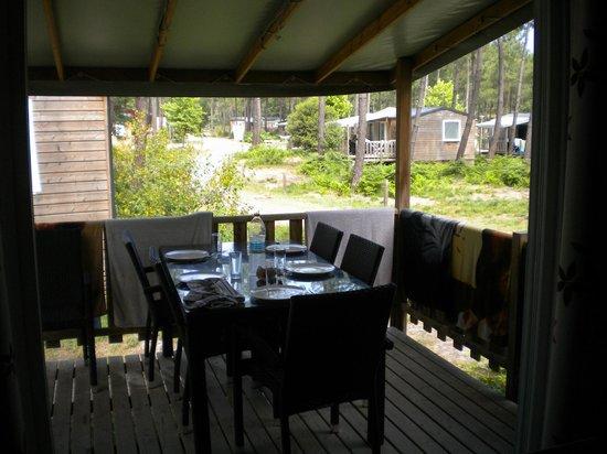 Fram Nature: notre terrasse ombragée