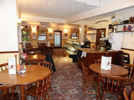 The Buttery: spacious tearoom with  large tables