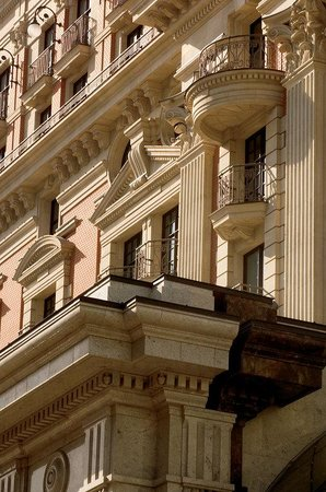 The Ritz-Carlton, Moscow: The facade is designed in the classical traditions