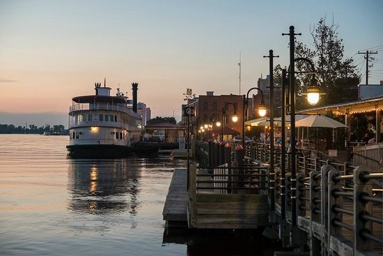 Night View Of The Wilmington Riverwalk
