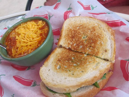 The Stew Pot: Tomato Cheddar Soup with Sandwich