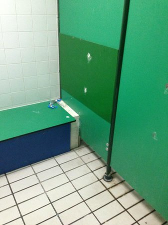 Aqua Splash: disabled changing - other changing rooms were too dark for photo!