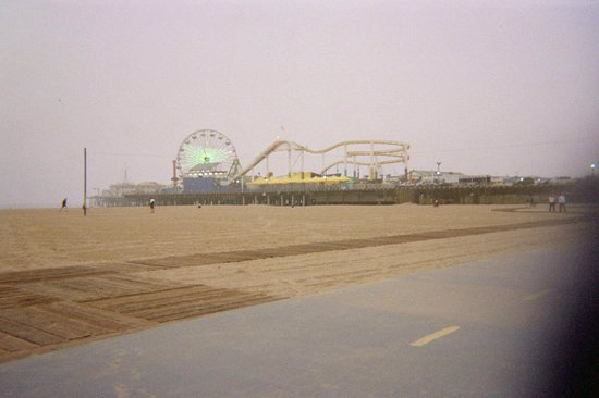 Santa Monica Pier: oh yeah, and you can ride your bike on the path to get here!