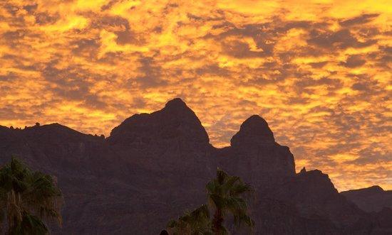 "Hotel Tripui: View of the Sierra de la Giganta"" mountains"