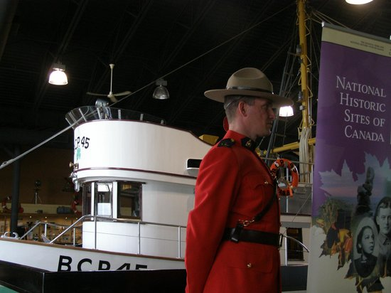 Maritime Heritage Centre : Royal Canadian Mounted Police at dedication of BCP45