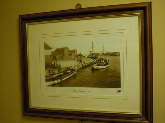 Bingley's Bistro: Old print of Poole from restaurant