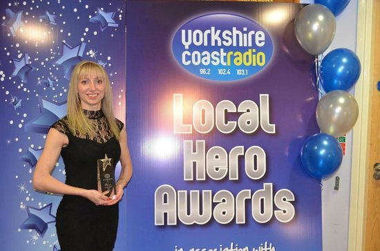 The Hunmanby Pantry: Congratulations to Angie for winning the Yorkshire Coast Radio 'Customer Service Award' 2013